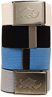 Less is more golf 4x2 Web Pack Belts for man. 4 belts and 2 buckles. 100% polyester (much better than cotton)