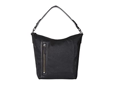 Frye Lena Perf Hobo (Black) Handbags