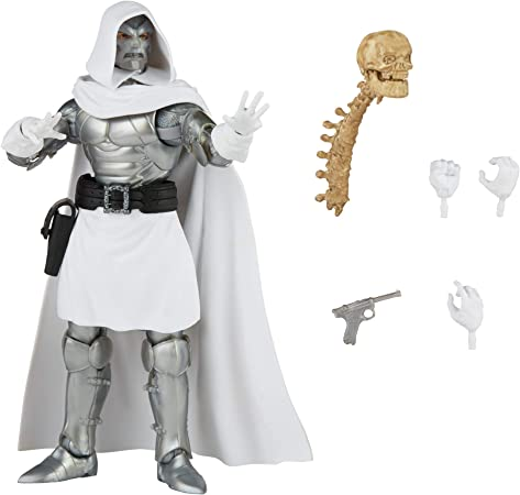 Marvel Hasbro Legends Series 6-inch Collectible Action Dr. Doom Figure and 4 Accessories