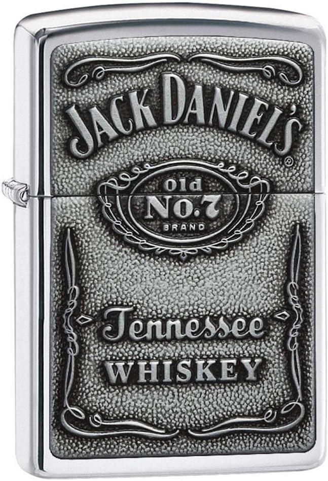 Mechero Normal con Etiqueta de Jack Daniel's, de Zippo