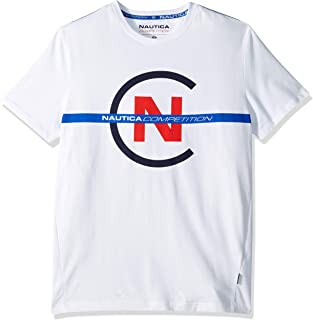 Nautica Men's Short Sleeve Crew Neck Competition Shirt