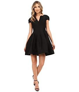 Short Sleeve Notch Neck Dress with Tulip Skirt