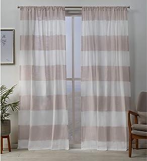 Exclusive Home Curtains Darma Panel Pair, 50 x 108, Blush