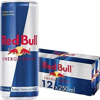 Red Bull Energy Drink Dosen Getränke 12er Palette, EINWEG 12 x 250 ml