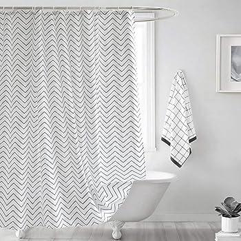 B*H antimoho para Incluye 12/anillos de cortina de ducha para cuarto de ba/ño 180/x 180//180/x 200//240/x 200/cm, azul, 180 * 180cm yishu Azul Onda impermeable cortina de ducha