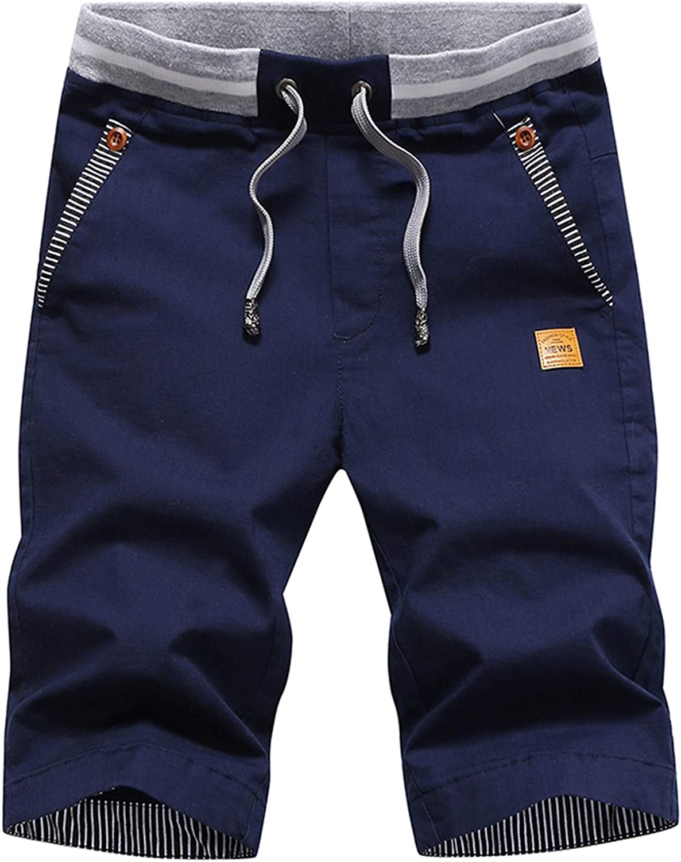 JustSun Mens Shorts Casual Classic Short Summer 5 popular Max 81% OFF Cotton Fit Beach