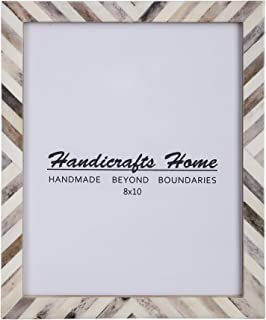Handicrafts Home 8x10 Picture Photo Frame Chevron Herringbone Art Inspired Vintage Wall Décor Gift Frames [8x10 BROWN]