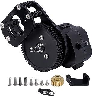 Sponsored Ad - DJX Complete Assembled Transmission Gearbox for 1/10 RC Crawler Car Gelande II D90 D110 (Black)