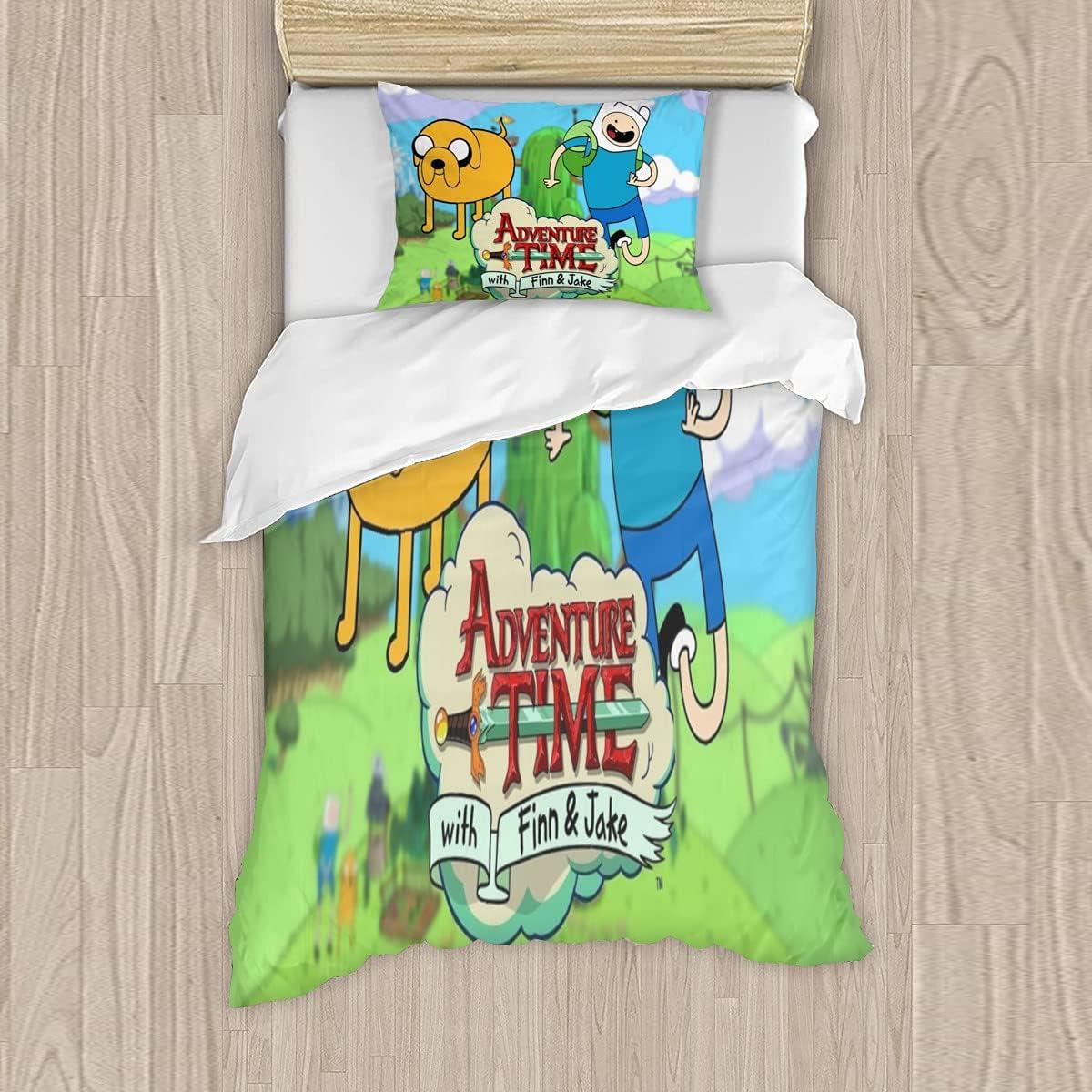 Adventure Time Free Shipping New Unisex 3-Piece Bedding Su Zipper ...