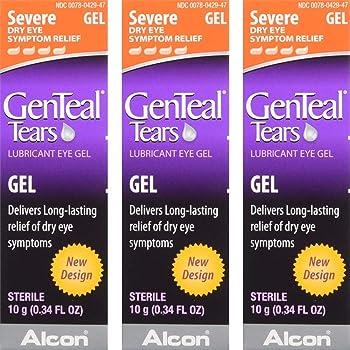 GenTeal Severe Dry Eye Relief Lubricant Eye Gel 0.34 oz (Pack of 3)