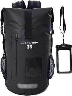 Premium-Rucksack, wasserdicht, 35 Liter, mit wasserdichtem Handybeutel, perfekt für Boot-/Kajak-/Kanufahren, Angeln, Rafting, Schwimmen, Camping, Snowboarden.