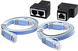 CERRXIAN RJ45 Adaptador divisor , divisor de cable Ethernet