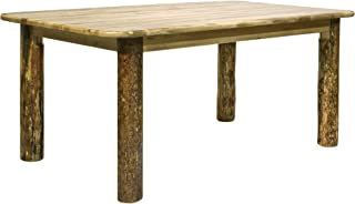 Montana Woodworks MWGCDT4PAZ Glacier Country Collection 4-Post Dining Table, Stained & Lacquered