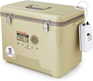 Engel Coolers 19qt Live Bait Cooler/Dry Box with Air Pump - Tan
