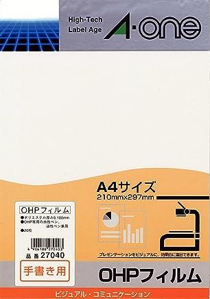 A-one OHP薄膜 手書き用 通常品(20枚)
