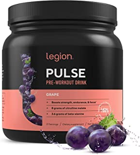 Legion Pulse, Best Natural Pre Workout Supplement for Women and Men – Powerful Nitric..