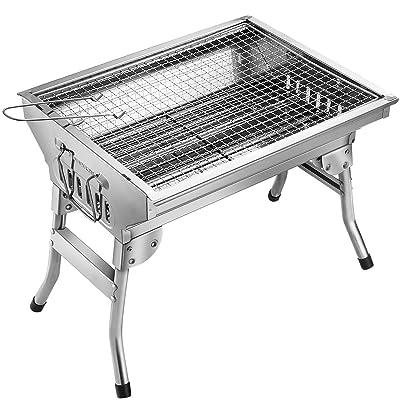 Homemaxs BBQ Grill, Stainless Steel BBQ Charcoa...