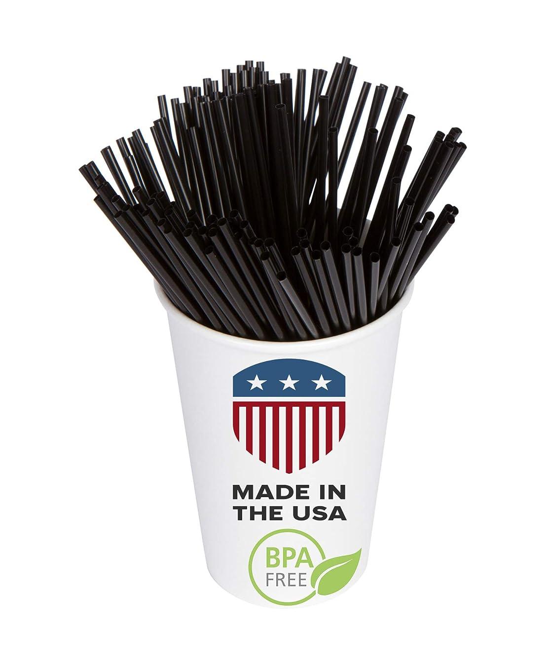 Coffee Stir Sticks, Plastic Stirrers: USA Made, BPA Free: Cocktail Straws, 5.25