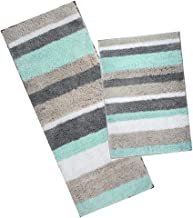 HEBE Non-Slip Microfiber Bath Rug Mat Runner Bathroom Extra Soft Thick Bathroom Rug Floor Carpet Water Absorbent Machine W...