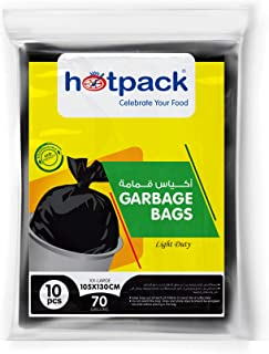 Hotpack Garbage Bag, 105x130 cm, 70 Gallon, 10 Pieces