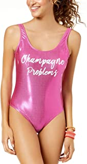 California Waves 'Champagne Problems' Pink Metallic Cheeky One-Piece Swimsuit