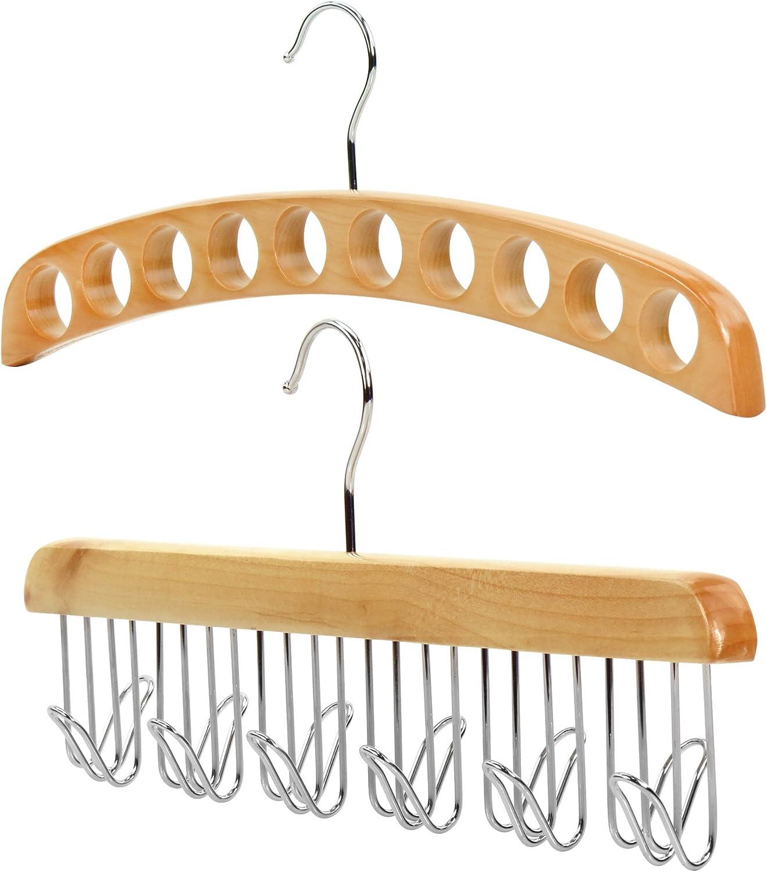 HANGERWORLD Natural Wooden Scarf Tie trend rank Belt Accessories Jewellery Department store