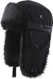 d769cc4a0cf6d Connectyle Oudoor Unisex Faux Fur Lined Trapper Hat Warm Windproof Winter  Russian Hats