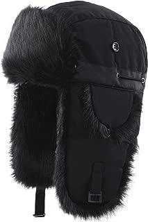 Oudoor Unisex Faux Fur Lined Trapper Hat Warm Windproof Winter Russian Hats