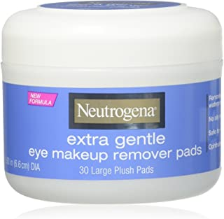 Neutrogena Eye Extra Gentle Makeup Remover Pads 30 Count Jar (6 Pack)
