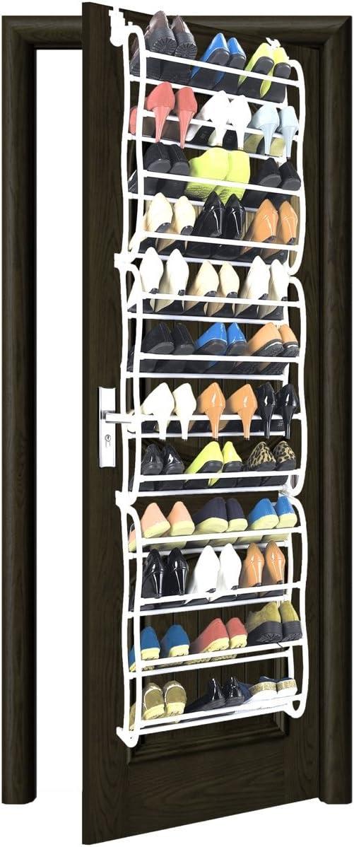 Wall-mounted Shoe Rack Door Hanging Shoes Holder Organizer Towel Bar Shelf Rack