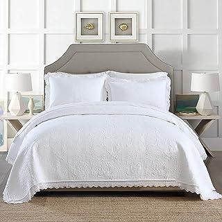 Amazon.fr : couvre lit blanc - Blanc