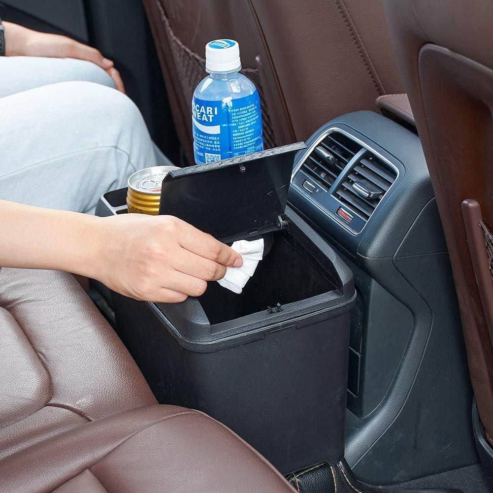 Aumo-mate Car Trash Can Organizer Interior Accessories Multi-Function Storage Box Beverage Cup Holder Storage Box Cans Holder for Automotive Cars SUV Truck Mini-Van