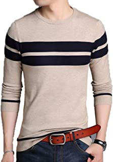 Eslove Mens Knitted Cashmere Wool Sweaters Pullover Men O-Neck Jumper Sweater