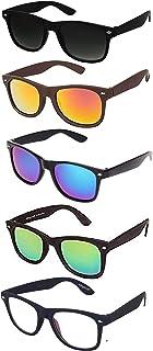 Elegante Mirrored Lenses Square Men's Sunglasses