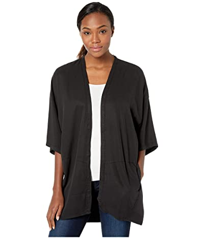 tentree Sawara Short Sleeve Blouse (Meteorite Black) Women