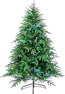 Home Equipment Christmas Tree xmas Decorations Outdoor Indoor Pre Lit Artificial Christmas Tree Green Spruce Tree 8 Lighti...