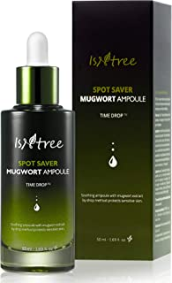 ISNTREE Spot Saver Mugwort Ampoule 1.69 fl.oz. | Skin Soothing, Moisturizing & Protecting with Mugwort Extracts | Korean S...
