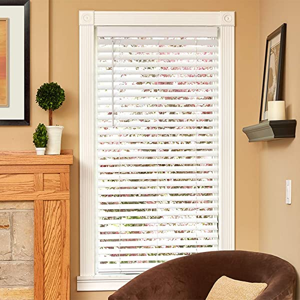 Lumino Faux Wood Flat Slat 2 Cordless Room Darkening Blinds White 30 X 72 Over 250 Add L Custom Sizes Starting At 13 49