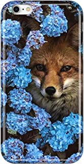 VIVIBIN iPhone 6 Case,iPhone 6s Case,Cute Fox in Flower for Women Girls Clear Bumper Soft Silicone Rubber TPU Cover Slim Fit Protective Phone Case for iPhone 6/iPhone 6s