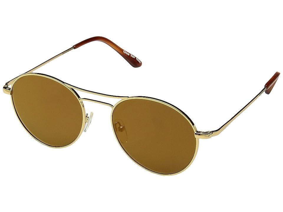 Retro Sunglasses | Vintage Glasses | New Vintage Eyeglasses TOMS Melrose Shiny Gold Fashion Sunglasses $129.00 AT vintagedancer.com