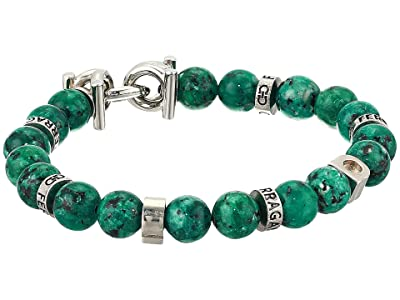 Salvatore Ferragamo Beaded Stretch Bracelet (Green) Bracelet