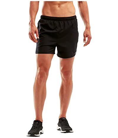2XU XVENT 5 Shorts w/ Brief (Black/Silver Reflective) Men