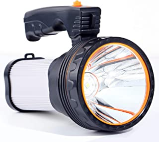 Rechargeable Led Torch, 6000 Lumens Super Bright LED Flashlight Handheld Waterproof Outdoor Searchlight Spotlight Portable...