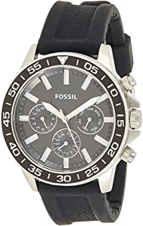 Fossil Bannon Multifunction Black Silicone Watch