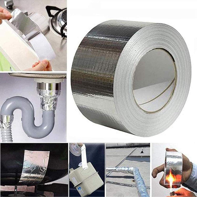 repare cualquier fuga y grieta parche para reparar fugas de tejado,Herramientas De Renovaci/óN Del Hogar Cinta de aluminio y caucho but/ílico superimpermeable 5cm*5m sellador de cinta de butilo
