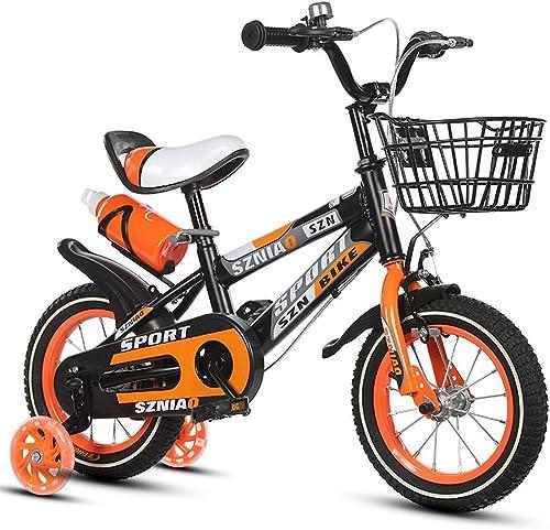 vendiendo bien en todo el mundo Bicicletas para Niños de 18 pulgadas Male & Female Female Female Baby Carriages 6-9 Years Old Bicycle para Niños de acero con alto contenido de carbono, naranja azul rojo (Color   naranja)  tienda en linea