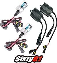 Sixty61 Suzuki GSXR 1000 2009-2019 HID headlight conversion bulbs kit, GSXR1000 (10,000 - Deep Blue)