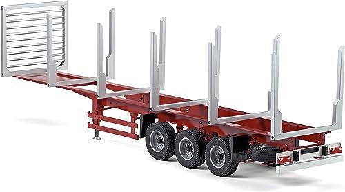 Carson 500907082 - 1 14 3-Achs Holz- Rungenauflieger Version II