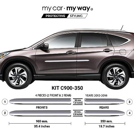Amazon Com My Car My Way Chrome Body Side Molding Cover Trim Door Protector Fits Honda Cr V 2012 2013 2014 2015 2016 Automotive
