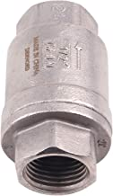 1/2 Inch Vertical Check Valve SUS304 Spring Loaded Check Valve in-line Low Cracking Pressure CF8M WOG 1000